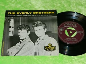 THE EVERY BROTHERS :  Self titled no.1 EP - Orig 1958 UK tri centre EP VG/EX 217