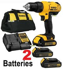 "Dewalt 20V Max Li-Ion 1/2"" Compact Drill Driver Kit Dcd771C2 2 battery 1 charger"