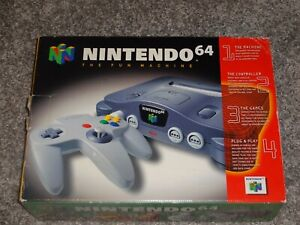 N64 Empty Box Nintendo with styrofoam insert and paperwork NO CONSOLE original