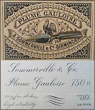 10% off! 12 vintage Sommerville & Co  No.750 EF Plume Gauloise nibs