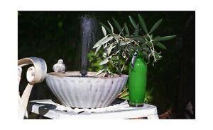 Restoration Hardware Like bird bath fountain (Includes solar powered water pump)