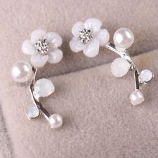 Pair Women Charm Crystal Rhinestone Ear Stud Daisy Flower Earrings Jewelry NEW