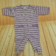 Carter's striped purple terry footed sleeper sz 3m