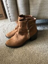 Womens Ladies Tan Brown Boots Size 5