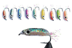 10 pcs/lot Size #2 Weight Saltwater Lure Bait Wet Fly Fishing Flies Lures Set