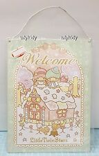 "Sanrio Little Twin Stars  Metal Plate "" Welcome "" Text    , h#3ok"
