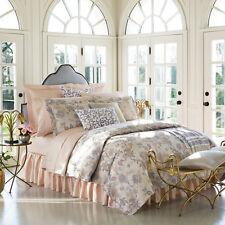 Sferra PRINA F/Queen Duvet Cover Shams 4 PC Pearl Floral Egypt Cotton Sateen New