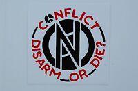 Conflict Sticker Decal (S157) Punk Rock Dystopia MDC Dead Kennedys Car Window