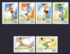 Football Benin (4) série complète 6 timbres oblitérés