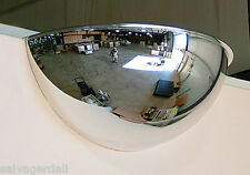 """1/2 Dome Acrylic Mirror Security Safety Indoor 26"""" Ceiling Mount Made In Usa New"""