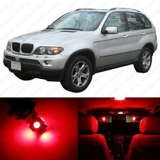 19 x Brilliant Red LED Interior Light Package For 2000-2006 BMW X5 Series E53