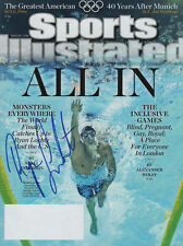 Ryan Lochte Olympic Swimmer SIGNED Sports Illustrated 8/6/12 COA!