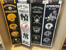 """New York Yankees Embroidered Logo Wool Heritage Banner MLB Licensed  8""""x32"""""""