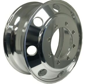 19.5 x 6.75 Truck Wheel Rim Alcoa Style Fit Front Polished Outside PCD 8x275mm
