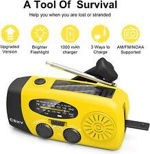 Esky Portable Emergency Weather Radio Hand Crank Solar Powered AM/FM/NOAA Radios