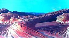 "Vivarium / Aquarium Sand Streaks Background 12"" Tall Poster Fish Tank Picture vi"