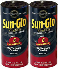 SUN-GLO MED-SPEED #6 TABLE SHUFFLEBOARD POWDER WAX SAND - 2 PACK - PRIORITY SHIP