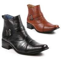 Metrocharm MET525-9 Men's Buckle Strap Western Cowboy  Dress Boots