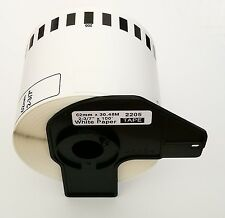 Compatible DK-2205 DK2205 Continuous Paper Labels With Permanent Cartridge