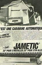 Publicité advertising 1979 La Caravane Jametic André Jamet