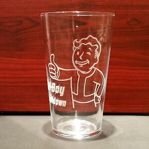 Fallout Pip boy Personalised Pint Glass Gamer Boyfriend Christmas Birthday Gift