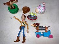 toy story figure lot Of 6 Woody  hat Bullseye Slinky Dog  Peep