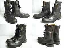 John Varvatos Leather Military Style Lace up Boots sz 11 M