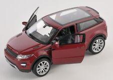 BLITZ VERSAND Land Rover Range Rover Evoque weinrot Welly Modell Auto 1:34 NEU