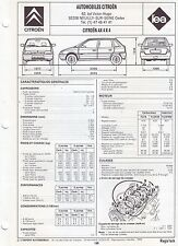 Fiche Technique Automobile pour Citroën AX 4x4 - Edition LEA - Année 1993