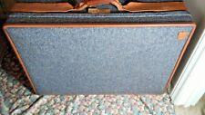 "HARTMANN Tweed  Leather Belted Belting Suitcase Luggage Bag Wheels/Rolling 29"""