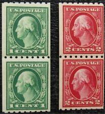 nystamps US Washington Stamp # 410,411 Mint OG NH $88 Pair   L16x338