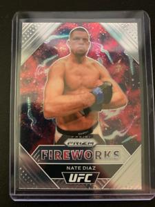 Nate Diaz - 2020-21 Panini UFC Prizm - Fireworks Insert