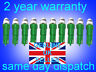 10 x 286 LED Xenon GREEN T5 Dashboard-instrument panel bulbs quick and easy mod