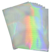 10pcs A4 Printing Paper Self Adhesive Sticker Label Blank Hologram Silver Laser