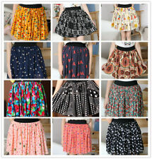 Machine Washable Mini Floral Skirts for Women