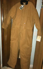 New Dickies Men's Sanded Insulated Coveralls Brown Duck Size X-LARGE REGULAR