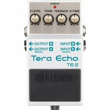 BOSS TE-2 Tera Echo Reverb DSP Chip Guitar Effects Pedal w/ Stereo Ins Outs