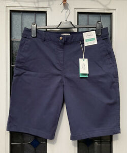 Joules Cruise Long Navy Chino Shorts size 14 new with Tags