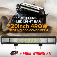 20inch 2016W QUAD ROW LED Work Light Bar Flood Spot Offroad SUV 4WD ATV UTE 23""