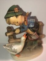 Goebel Hummel Barnyard Hero -TMK2,  #195 2/0 Full Bee Stamp In Circle, Preowned