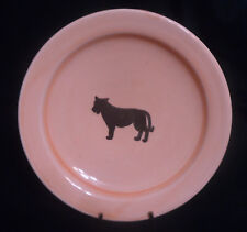 """Moroccan Handmade Glazed Terracotta Wall Hanging LION Plate or Bowl 8-5/8"""""""