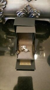 Clogau Silver And Welsh Gold Orchid Ring With Pink Sapphire