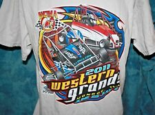 Sprint Car T Shirt Monroe Washington 2011 Western Grands Large Gildan Light Gray