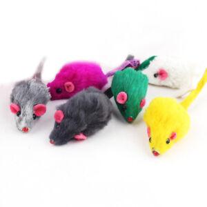 10Pcs/lot Rabbit Fur False Mouse Pet Cat Toys Mini Funny Playing Toys for Cats