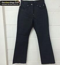 "ProSpeed ""Brubaker"" Ladies Leather Motorcycle Jeans - Black - Size USA10 /UK 14"