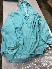 Green Tea Mineral Wash Lace Up Hoodie 2Xl (G2)
