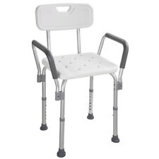 Adjustable Medical Shower Chair Bathtub Bench Bath Seat Stool With Arms White