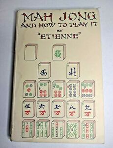Mah Jong & How to Play it by Etienne - Antique Hardback Book 1924 with Dustcover