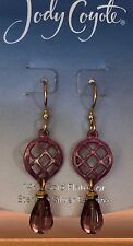 Jody Coyote Earrings JC0968 New QN841-01 gold pink Made USA dangle