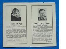 Sterbebild, Luftwaffe v. 2 Brüdern Flugzeugführer, hohe Auszeichnungene